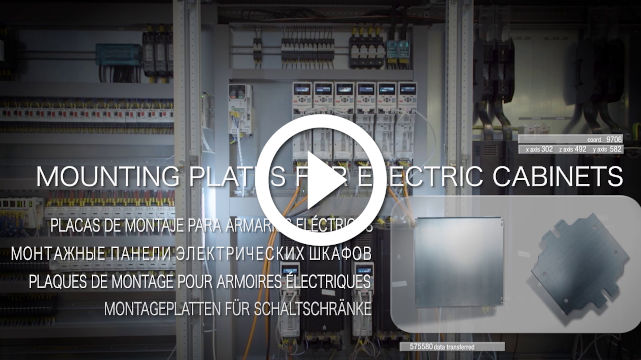 Mounting plates for electric cabinets video
